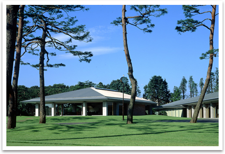 The new clubhouse of Toyooka course.